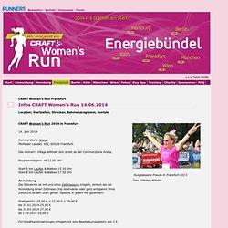 Infos 2014: Women's Run 2013. Der Frauenlauf in Hamburg, Frankfurt, Köln, München und Wien.