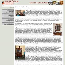 Neukölln im Netz - Schloss Britz - Frauenwelten im Wiener Biedermeier - Ausstellung