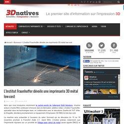 L'Institut Fraunhoffer dévoile une imprimante 3D métal low-cost