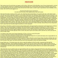 Fravashi in Zoroastrian Religion