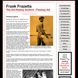 Frank Frazetta - Fantasy Artist - The Art History Archive