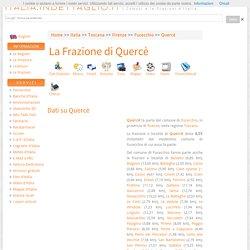 La frazione di Querce nel comune di Fucecchio (FI) Toscana
