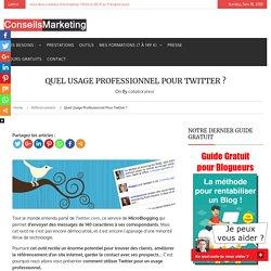 Quel usage professionnel pour Twitter ?
