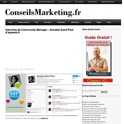 Interview de Community Manager : Annabel Saint-Paul d'aspweb.fr