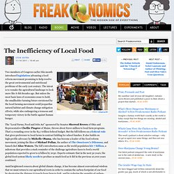 The Inefficiency of Local Food