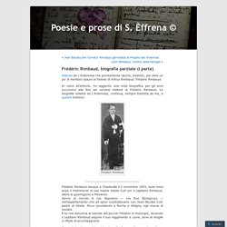 Frédéric Rimbaud, biografia parziale (I parte)