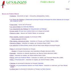 Frédéric Mistral : Livres en ligne, Biographie LEXILOGOS