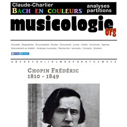Frédéric Chopin (1810-1849) - musicologie.org