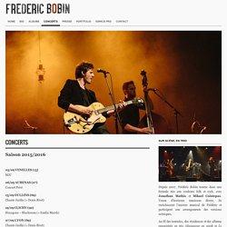 Site officiel de Frédéric Bobin
