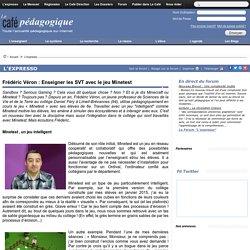 Frédéric Véron : Enseigner les SVT avec le jeu Minetest