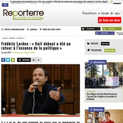 Frédéric Lordon: «Nuit debout a été un retour à l'essence de la politique»