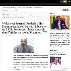 Affaire projet Simandou FRÉDÉRIC CILINS (lobbyiste BSGR) plaide coupable