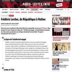Frédéric Lordon, de République à Nation