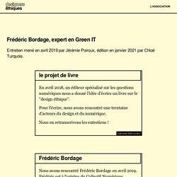 Frédéric Bordage - Livre Design Ethique Numérique - Les Designers Éthiques