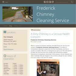 A Dirty Chimney is a Serious Health Concern