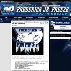 Frederick Jr Freeze Youth Hockey powered by GOALLINE.ca