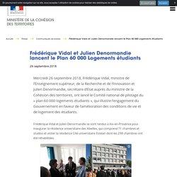 Frédérique Vidal et Julien Denormandie lancent le Plan 60 000 Logements étudiants