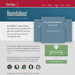 Roundabout for jQuery by Fred LeBlanc