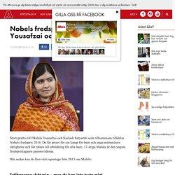 Nobels fredspris till Malala Yousafzai och Kailash Satyarthi!
