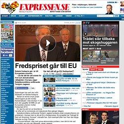 Fredspriset går till EU