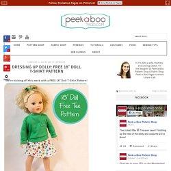"FREE 18"" Doll T-Shirt Pattern"