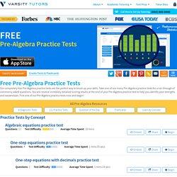 Free Pre-Algebra Practice Tests