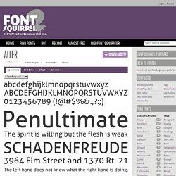 Free Font Aller by Dalton Maag Ltd