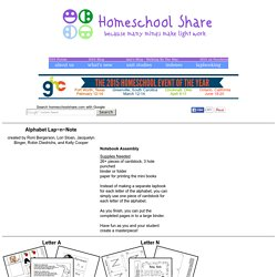 Free Alphabet Notebook Lapbook