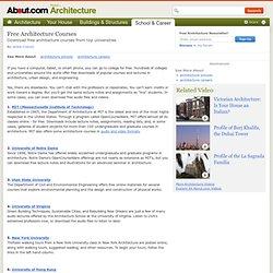 Free Architecture Courses