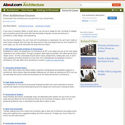 Free Architecture Courses