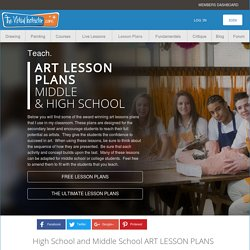 Free Art Lesson Plans-Visual Art Lesson Plans