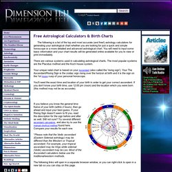 Free Astrological Calculators