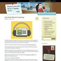 Free Audio Files for E-Learning