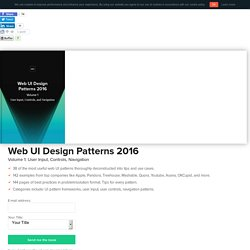 Free e-book: Web UI Design Patterns 2016 (Vol. 1)