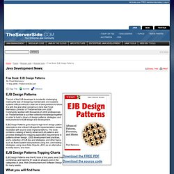 EJB Design Patterns Book on the TheServerSide.com