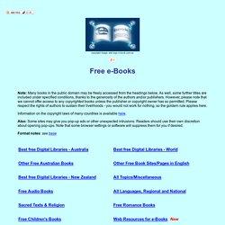 Free e-books - Iceweasel