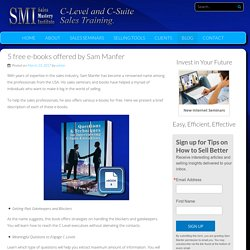 5 free e-books offered by Sam Manfer