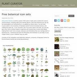 Free botanical sets of icon illustrations