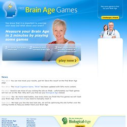 Free Brain Age Games: Home