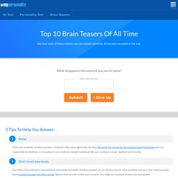 Free Brain Teasers - Top 10 of All Time