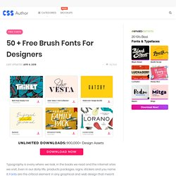 50 + Free Brush Fonts for Designers