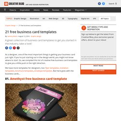 22 free business card templates