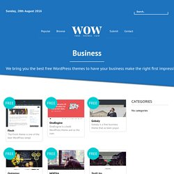 14+ Free Business WordPress Themes in 2016