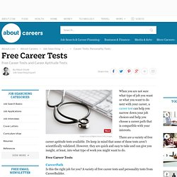 Free Career Tests and Career Aptitude Tests