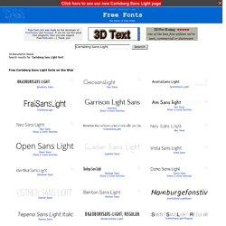 Free Carlsberg Sans Light Fonts