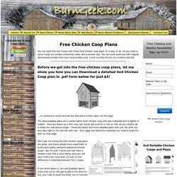 Chicken Coop Plans, Free Chicken Coop Plans
