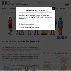 Free Children Just Like Me Activity Pack