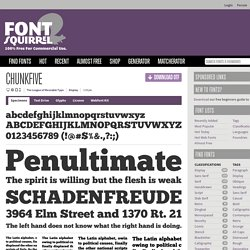 Free Font ChunkFive by The League of Moveable Type