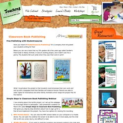 Free Classroom Book Publishing