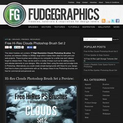 Free Hi-Res Clouds Photoshop Brush Set 2